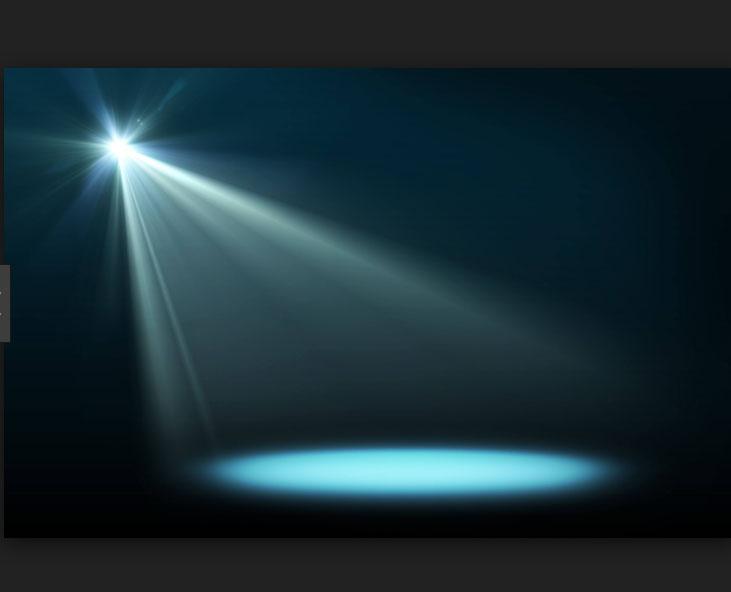 brillo de una linterna